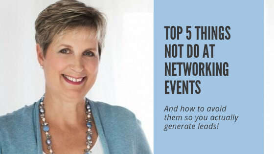 Top 5 Things NOT Do At Networking Events